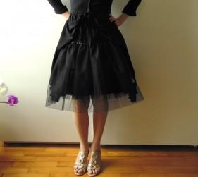 Jupon en tulle noir doublé coton