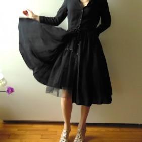 jupon en tulle noir ample doubl coton taille lastique pour jupe ou robe r tro ann es 50. Black Bedroom Furniture Sets. Home Design Ideas