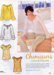 Blouse du magazine Tendances couture n°16