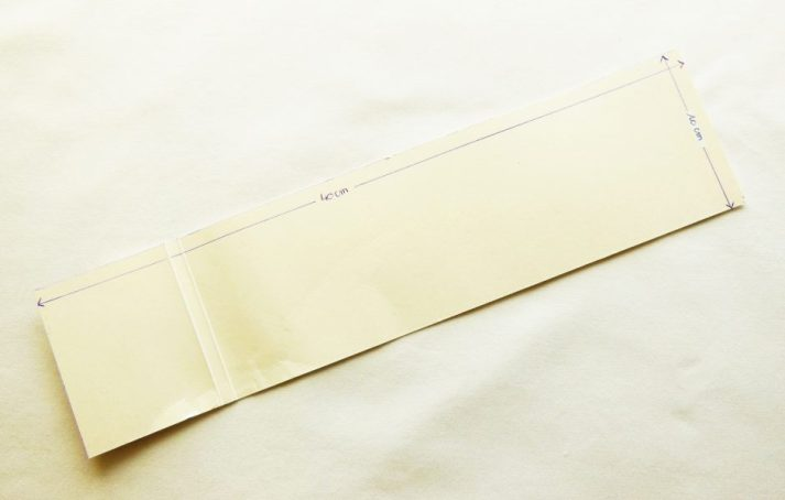 gabarit des bandes de tissu
